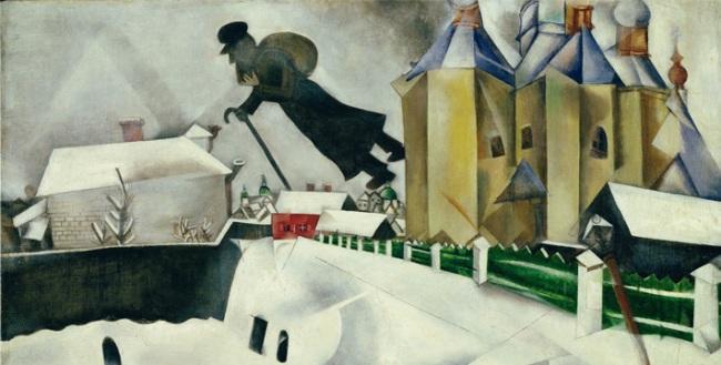 Chagall Au-dessus de Vitebsk 1915 - 1920