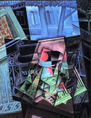 Juan Gris Still-Life Before an Open Window