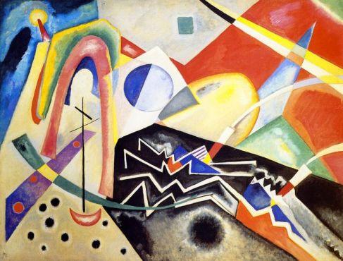 Wassily Kandinsky 'White Zig Zags' (1922)