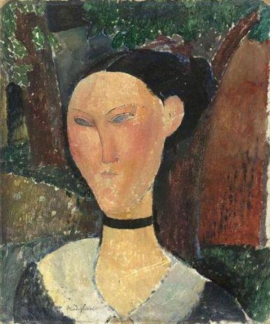 Modigliani 'Femme au ruban de velours' (1915)