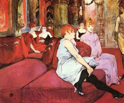 Toulouse-Lautrec 'Au Salon de la Rue des Moulins' (1894)