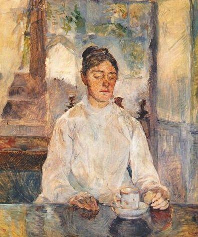 Toulouse-Lautrec 'Comtesse Adèle de Toulouse-Lautrec, at breakfast (1881)