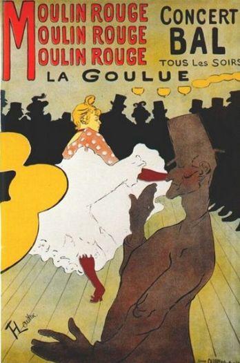 Toulouse-Lautrec 'La Goulue' poster (1891)