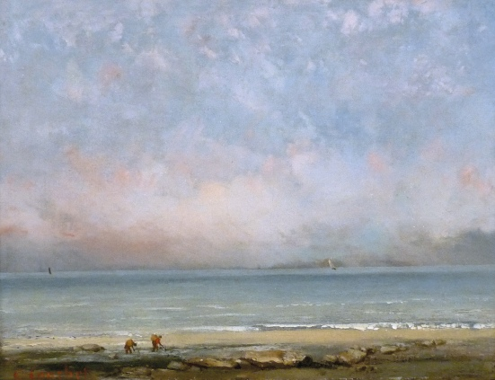 Coubert 'The Beach at Trouville' (c.1865)