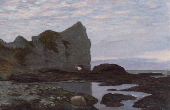 Monet 'Etretat' (c.1864)
