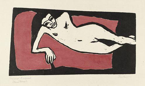 Heckel 'Franzi Reclining' (1910)