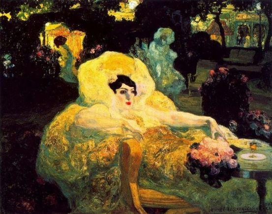 Hermen Anglada Camarasa 'The White Peacock' (1904)