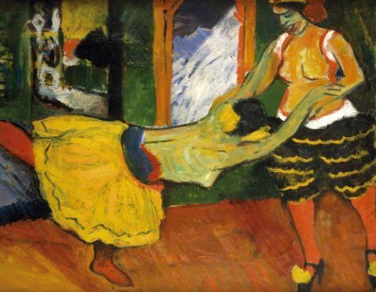 Pechstein 'Two Dancers' (1909)
