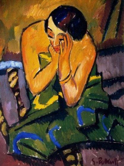 Schmidt-Rottluff 'Thoughtful Woman' (1912)