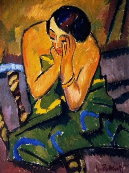 Schmidt-Rottluff 'Thoughtful Woman' (1912)