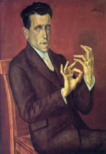 Dix 'Portrait of the Lawyer Hugo Simons' (1925)