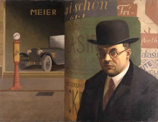 Georg Scholz 'Self-Portrait in front of an Advertising Column' (1926)