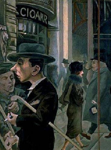 Grosz 'Street Scene' (1925)