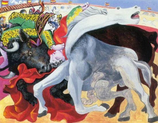 Picasso 'Corrida - la Mort du Torero' (1933)