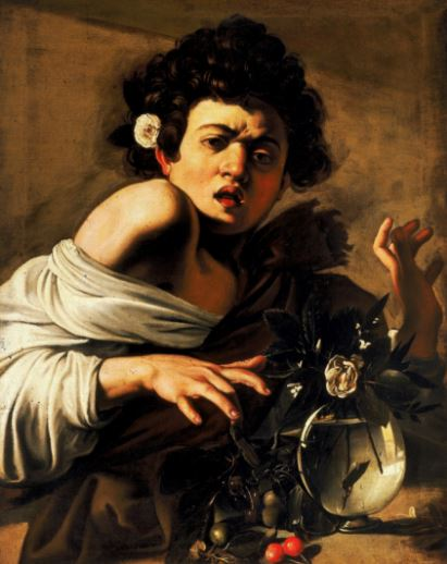 Caravaggio 'Boy Bitten by a Lizard' (c.1595 - 96)