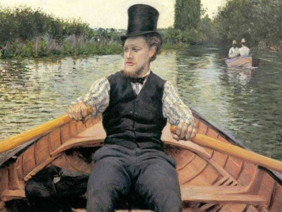 Gustave Caillebotte 'Oarsman in a Top Hat' (1878)