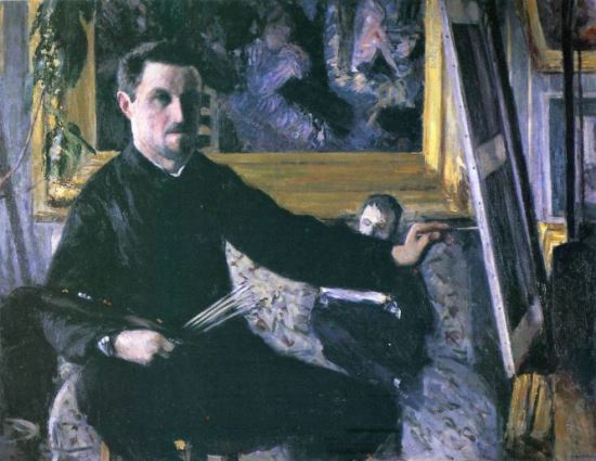 Gustave Caillebotte 'Self-Portrait at the Easel' (1878 - 79)