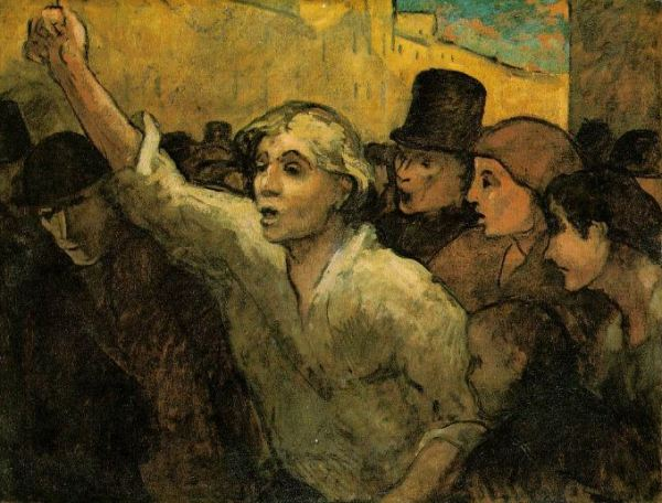 Honore Daumier 'The Uprising' (c.1848)