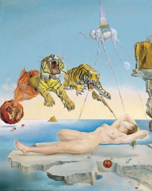 Salvador Dali' Dream Caused by the Flight of a Bee ...' (1944)