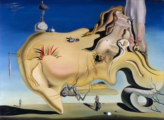 Salvador Dali 'Face of the Great Masturbator' (1929)