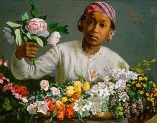 bazille-jeune-femme-aux-pivoines-1870