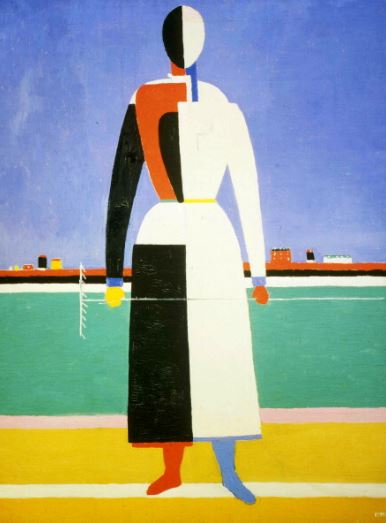 kazimir-malevich-woman-with-a-rake-1930-32