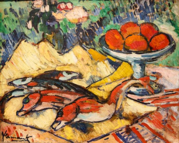 maurice-de-vlaminck-still-life-with-fish-1907