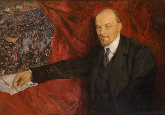 isaak-brodsky-v-i-lenin-and-manifestation-1919