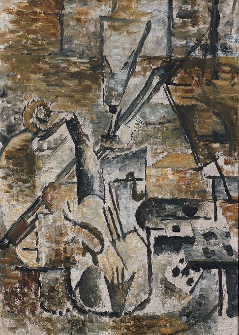 Georges Braque 'Violin and Bow' (1911)