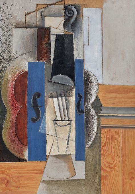 Pablo Picasso 'Violin Hanging on the Wall (Violin)' (1913)