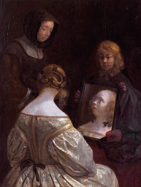 Gerard Ter Borch 'Woman at a Mirror' (1651 - 52)