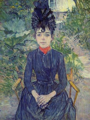 Henri Toulouse-Lautrec 'Seated Woman in the Garden' (1891)