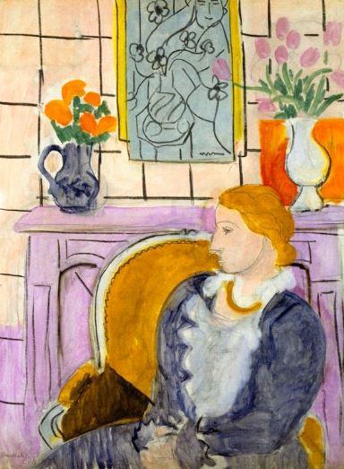 Matisse 'Blue Dress in Ochre Armchair' (1937)