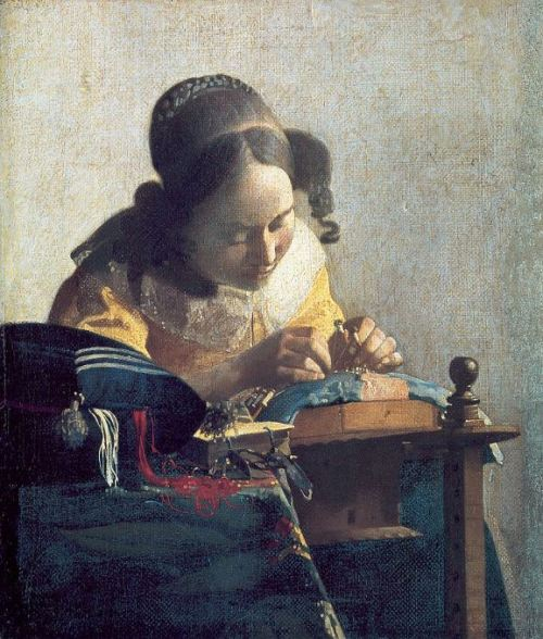 Vermeer 'The Lacemaker' (c.1669 - 70)