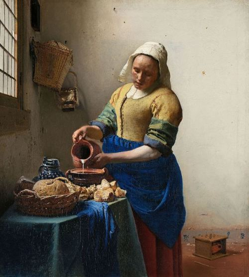 Vermeer 'The Milkmaid' (c.1657 - 58)