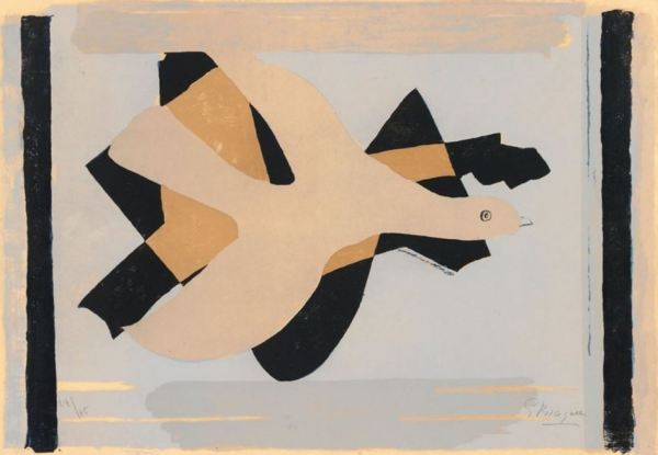 Braque 'The Bird and his Shadow I' (lithograph, 1959)