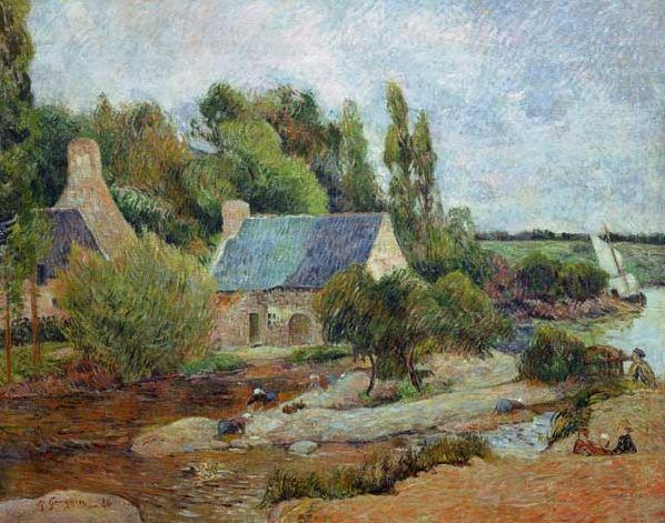 Gauguin 'Les Lavandieres in Pont-Aven' (1886)