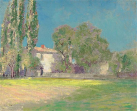 Odilon Redon 'Peyrelebade, domaine familial près de Listrac' (1896 - 97)