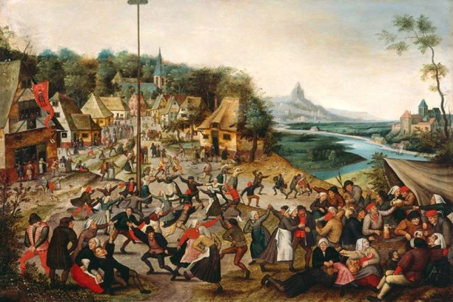 Pieter Bruegel the Younger 'Peasants Dancing around the Maypole' (c.1620)