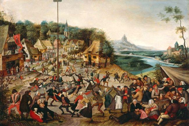 Pieter Bruegel the Younger 'Peasants Dancing around the Maypole' (c.1620)