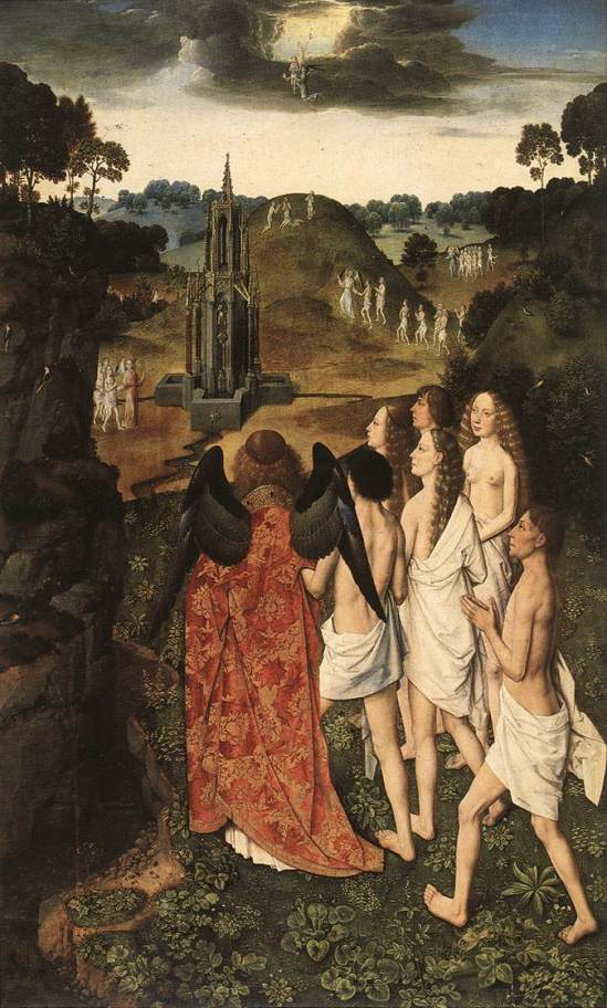Dirk Bouts 'The Ascension of the Elect' (c.1450)