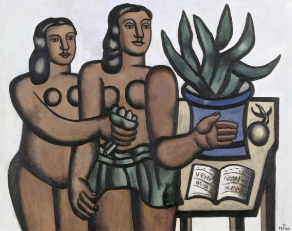 Fernand Leger 'Two Women with a Blue Vase' (1935)