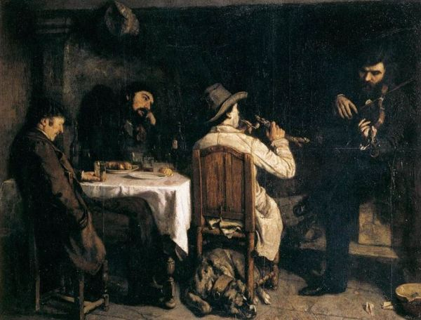 Gustave Courbet 'After Dinner at Ornans' (1849)