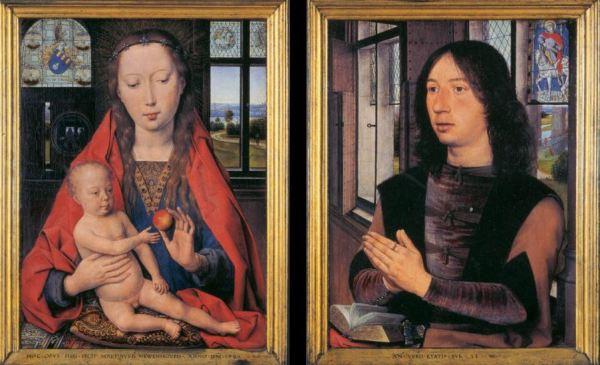 Hans Memling 'Diptych of Maarten van Nieuwenhove' (1487)