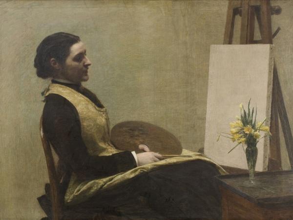 Henri Fantin-Latour 'L'etude. Portrait of Sarah Elizabeth Budgett' (1883)