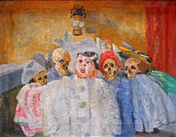James Ensor 'Pierrot and Skeletons' (c.1905 - 07)