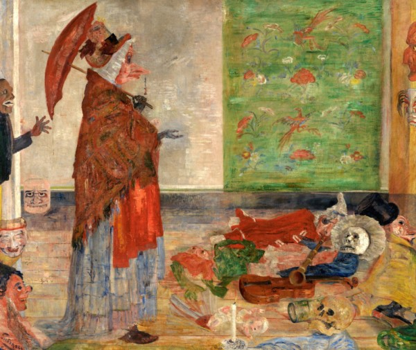 James Ensor 'The Astonishment of the Mask Wouse' (1889)