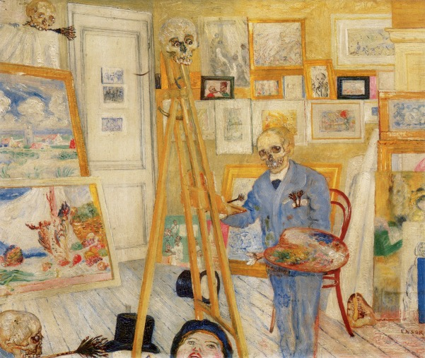 James Ensor 'The Skeleton Painter' (1896)
