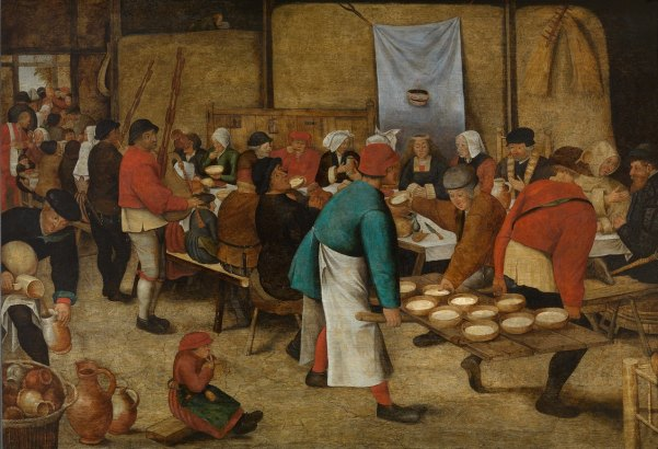Pieter Brueghel the Younger 'Peasant Wedding in a Barn' (1616)