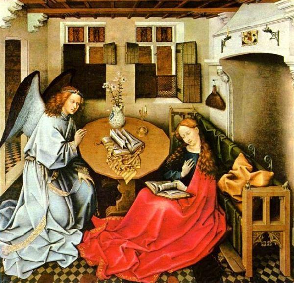 Robert Campin 'Annunciation' (c.1420s)